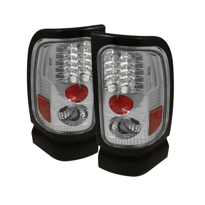 dodge ram 1500 94 01 ram 2500 3500 94 02 led tail lights chrome. Black Bedroom Furniture Sets. Home Design Ideas
