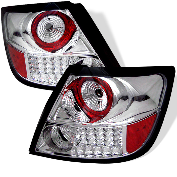 scion tc 05 10 led tail lights chrome. Black Bedroom Furniture Sets. Home Design Ideas