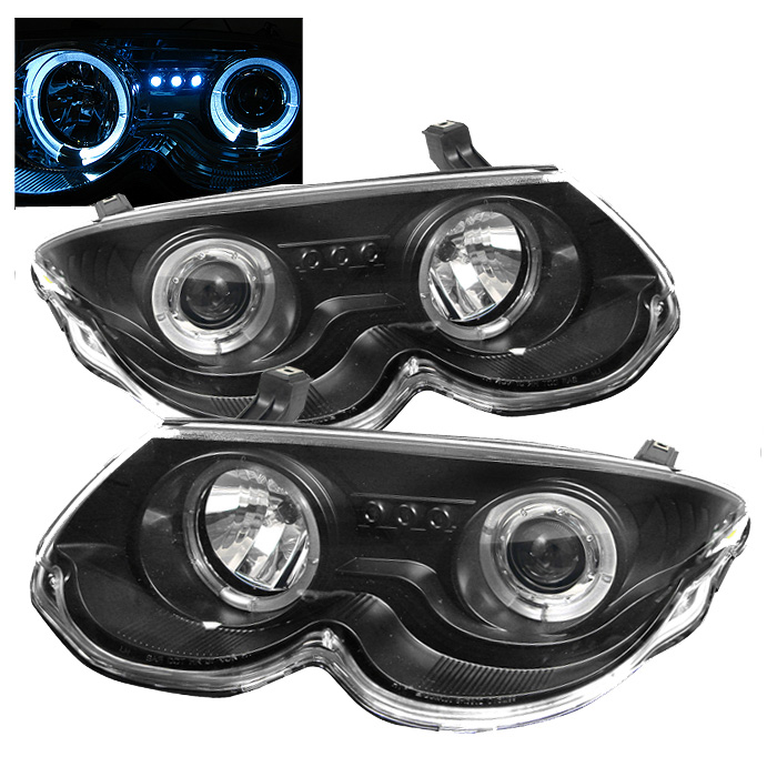 Chrysler 300m 99 04 Projector Headlights Led Halo Replaceable Leds