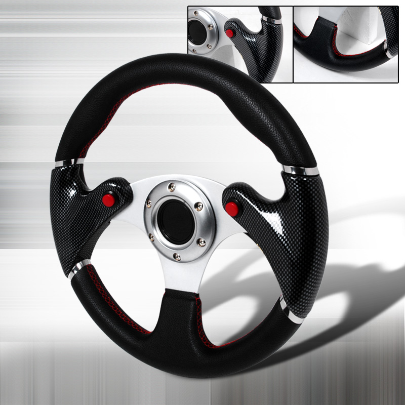 F16 Carbon 320Mm Spec-D Tuning SW-9410032-BK-RS Black Steering Wheel